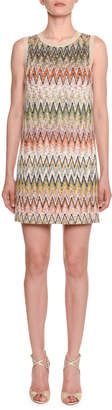Missoni Sleeveless Multicolored Zigzag Shift Dress