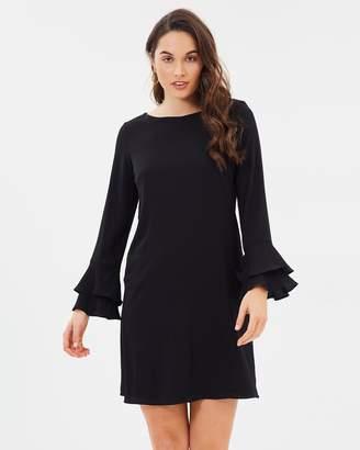 Wallis Double Fluted Sleeve Dress