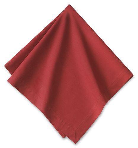 Autumn Boutis Napkin, Set of 4, Red