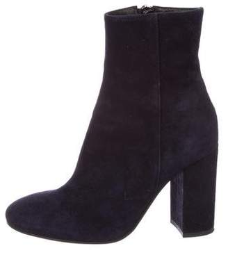 Barneys New York Barney's New York Suede Round-Toe Ankle Boots