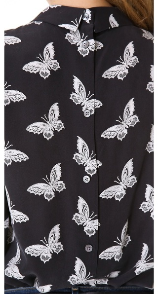 Equipment Grace Magnetic Butterfly Blouse