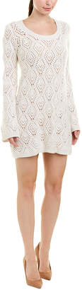 Autumn Cashmere Diamond Stitch Wool & Cashmere-Blend Sweaterdress