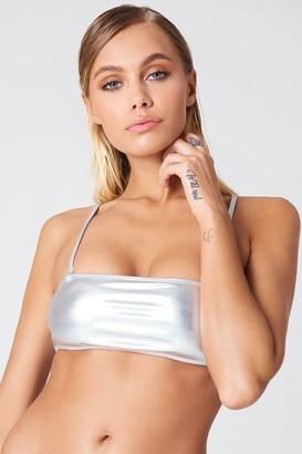 Na Kd Swimwear Metallic Bandeau Bikini Top