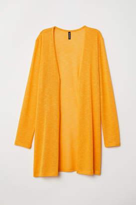H&M Fine-knit Cardigan - Yellow