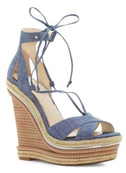 Jessica Simpson Adyson Wedge Lace-Up Sandals $119 thestylecure.com