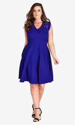 Plus Size Cobalt Blue Dress - ShopStyle