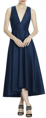 Women's Lela Rose Bridesmaid Mikado High/low Midi Gown $220 thestylecure.com