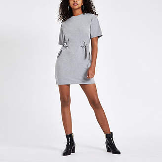 River Island Grey drawstring waist mini dress