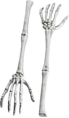 Pottery Barn Skeleton Hand Servers, Set of 2