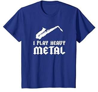 I Play Heavy Metal Funny Saxophone T-Shirt