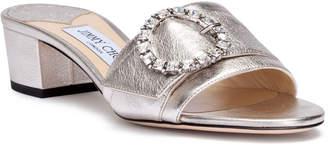 Jimmy Choo Granger 35 metallic silver leather sandals