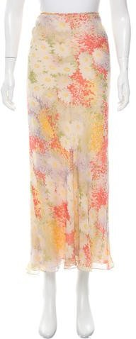 Vera WangVera Wang Floral Maxi Skirt