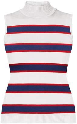 Rumour London - Erin Blue & Red Striped Sleeveless Top