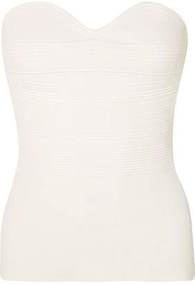 Roland Mouret Stretch-knit Bustier Top - White