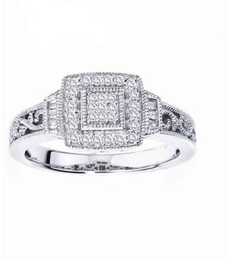 Armani Exchange Jewelry 0.25 Carat T.W. Diamond Sterling Silver Promise Ring (IJ I2-I3)