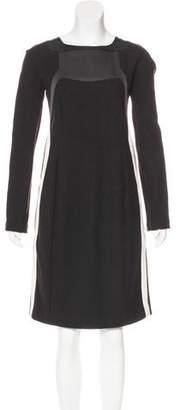 Narciso Rodriguez Long Sleeve Wool Dress