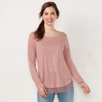 Lauren Conrad Women's Lace-Hem Tunic