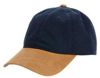 George Men's Twill Adjustable Back Ball Cap with Faux Suede Curved Bill