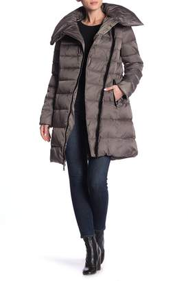 T Tahari Brooklyn Asymmetric Down Coat