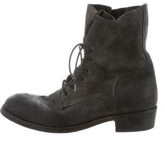 ARI Distressed Suede Combat Boots w/ Tags
