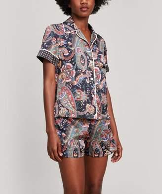 Liberty London Florence Silk Satin Short Pyjama Set