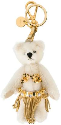 Prada bear charm keyring