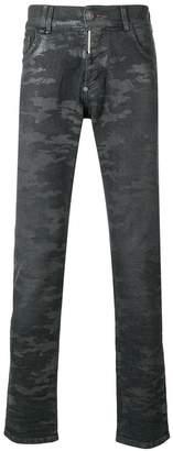 Philipp Plein camouflage effect jeans