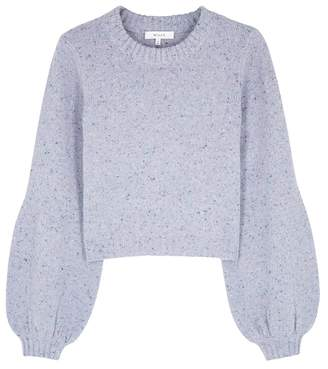 Milly Pale Blue Flecked Wool