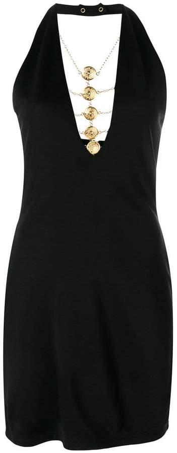 medallion chain dress