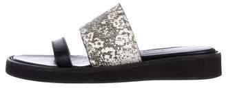 Helmut Lang Embossed Slide Sandals