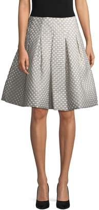 Oscar de la Renta Women's Polka Dot Flared Skirt