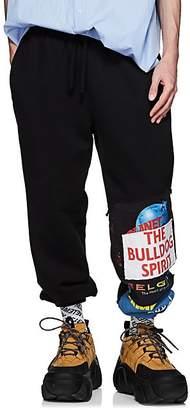 Vetements Men's Patchwork Cotton-Blend Oversized Sweatpants - Black