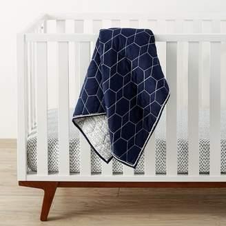 west elm Honeycomb Toddler Quilt - Nightshade