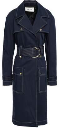 Diane von Furstenberg Double-breasted Cotton-blend Gabardine Trench Coat