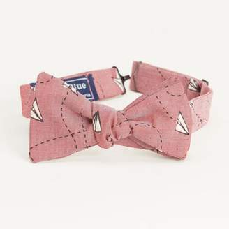 Blade + Blue Red Chambray Paper Planes Print Bow Tie