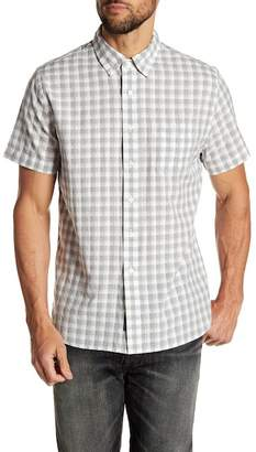 Grayers Gingham Print Short Sleeve Regular Fit Woven Shirt