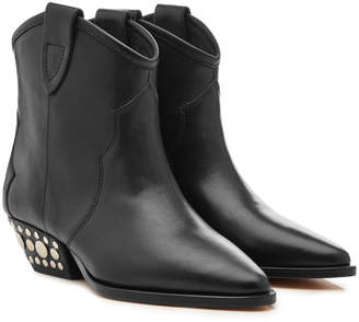 Isabel Marant Dawyna Leather Ankle Boots