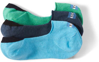 Toms 3 Pack Solid Blues Womens No Show Socks