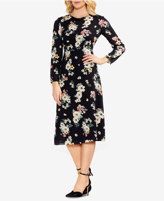 Vince Camuto Floral-Print Midi Dress