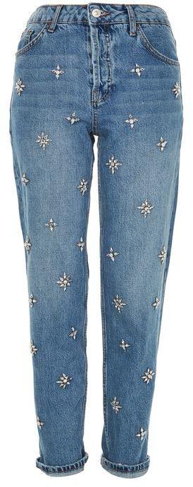 TopshopTopshop Moto gemstone hayden boyfriend jeans