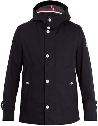 Moncler Hooded cotton-canvas raincoat