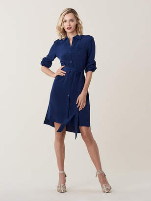 Diane von Furstenberg Prita Silk Crepe de Chine Shirt Dress