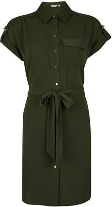 74a843b99f7 Dorothy Perkins Womens Petite Khaki Shirt Dress