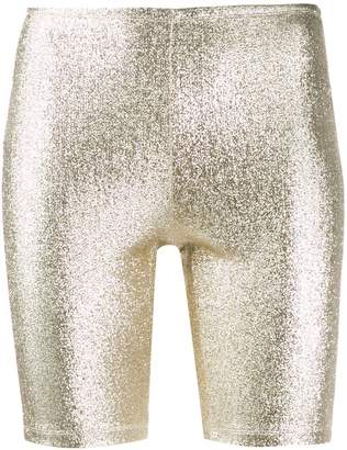 Paco Rabanne metallic cycling shorts