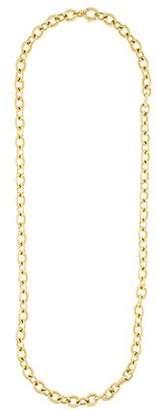 David Yurman 18K Large Oval Link Chain Necklace