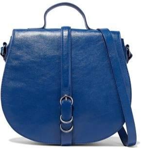 Halston Buckled Leather Shoulder Bag