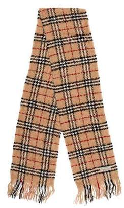 Burberry Merino Wool Nova Check Scarf Tan Merino Wool Nova Check Scarf