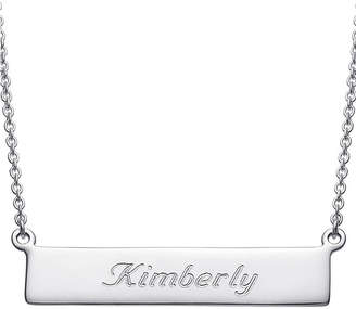 FINE JEWELRY Personalized Sterling Silver Cursive Name Bar Necklace