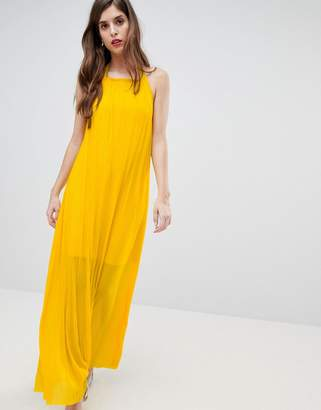 French Connection Plisse Halter Maxi Dress