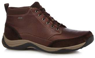 Clarks SHOES Brown Leather 'Baystone Top Gtx' Lace Up Boots